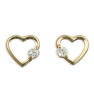 9ct Open Heart Studs