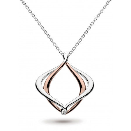 18ct Rose Gold Entwine Alicia Necklace