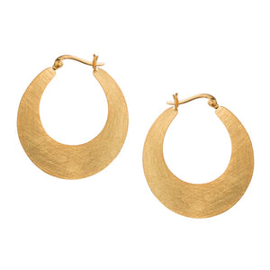 Golden Cresent Hoop Earrings