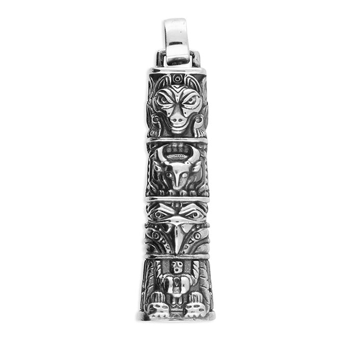 Sterling Silver Totem Spirit Pendant Necklace
