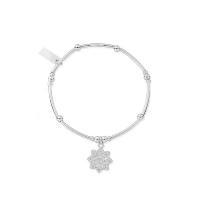 ChloBo Mini Noodle Ball with Om Charm Silver