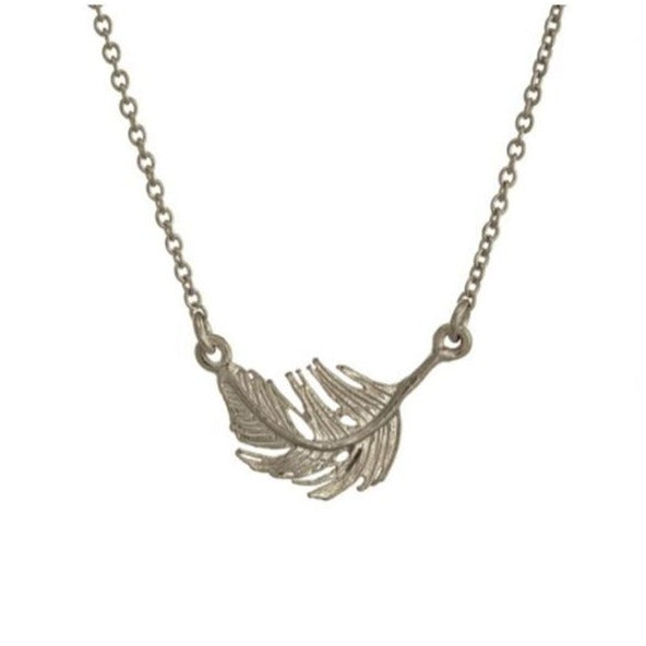 Alex Monroe Silver In-Line Feather Necklace - TFN4-S