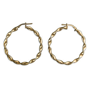 Rose Gold Twisted Hoop