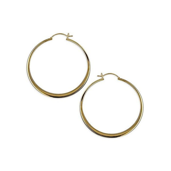 18ct Gold Plated Large Creole Hoops