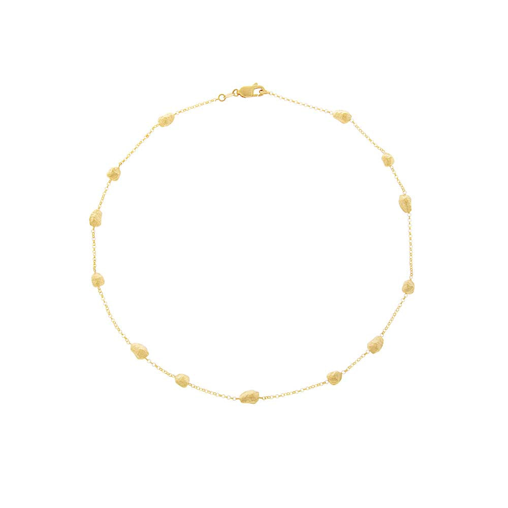 14ct Gold Nuggets Necklace