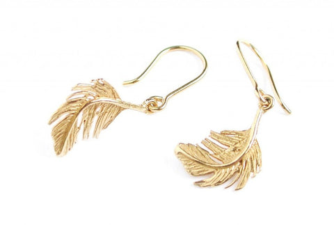 Little Feather Hook Earrings - TFE2/GP