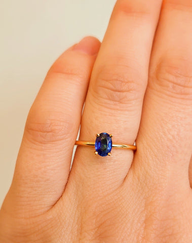 Oval Blue Sapphire Ring - WJ1855