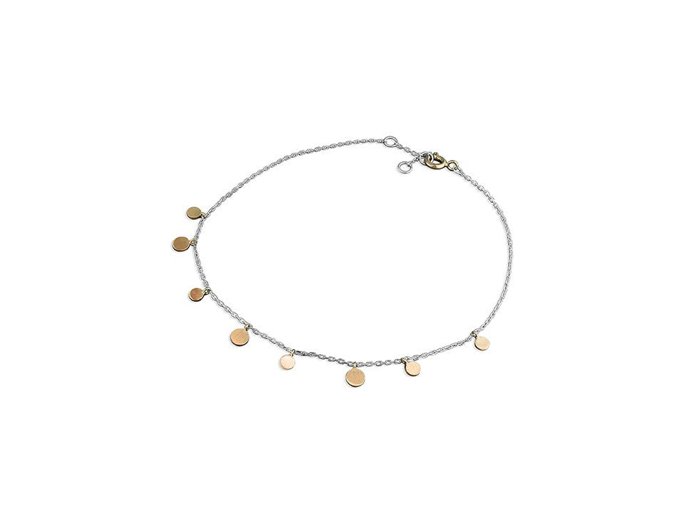 18ct Rose Gold Polka Dots Anklet