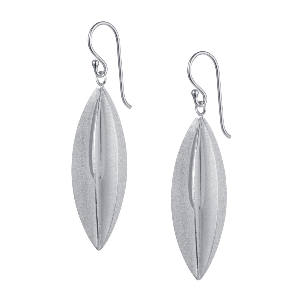 Silver Eliptic Earrings