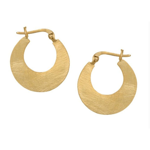 Small Golden Cresent Hoop Earrings