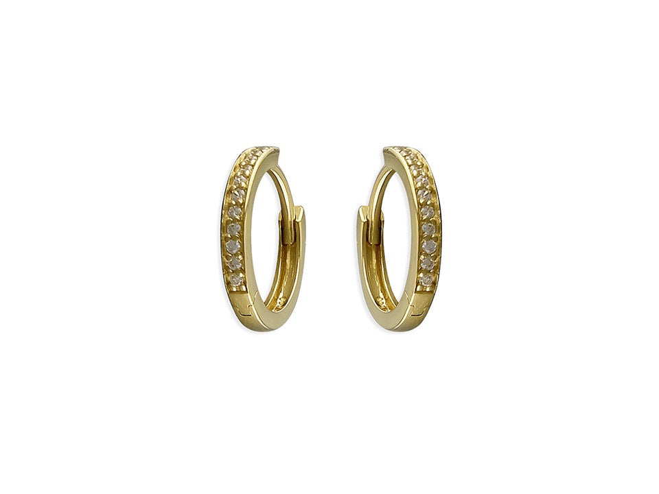 18ct Gold Plated Huggie Hoops