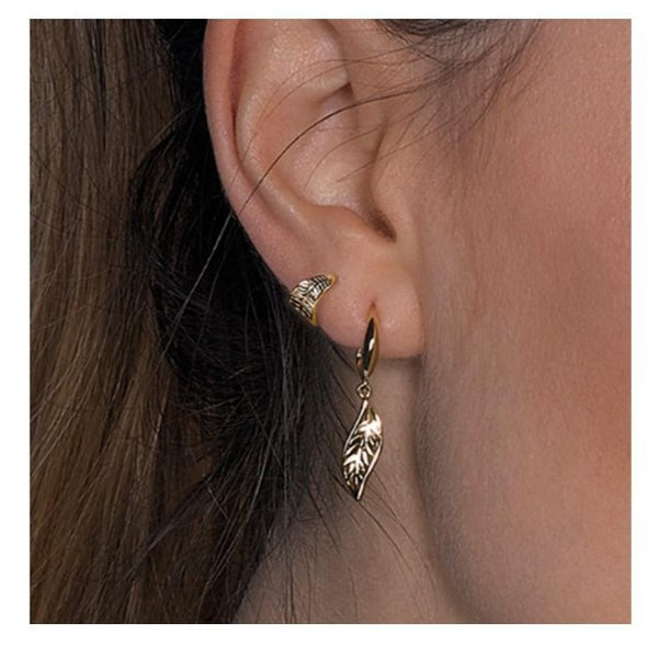 18ct Gold Plated Wrapped Leaf Ear Cuff