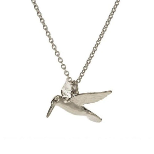 Alex Monroe Silver Humming Bird Necklace - SUN5/S
