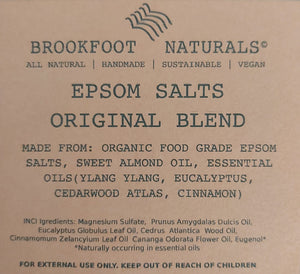 Epsom Salts Original Blend by Brookfoot Naturals - REFILL