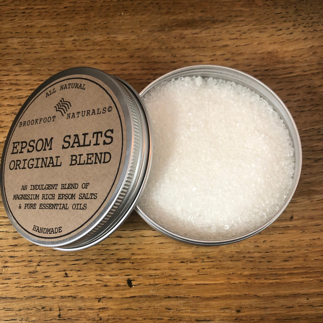 Epsom Salts Original Blend in Tin by Brookfoot Naturals