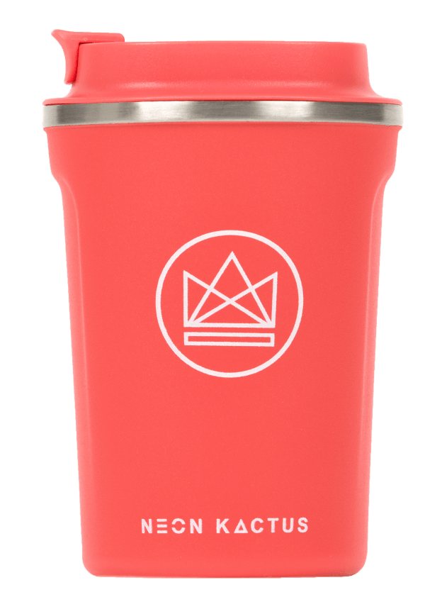 Insulated Travel Mug by Neon Kactus - raspberry red