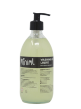 READY FILLED Washing Up Liquid in Glass bottle 500ml by Miniml