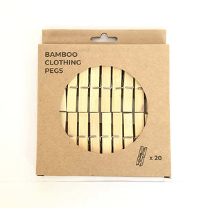 Bamboo Clothes Pegs - Pack of 20