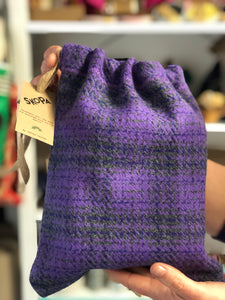Wool Gift Bag - Reusable & upcycled from pre-loved fabric