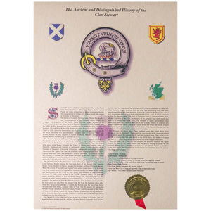 Unframed Scottish Clan History