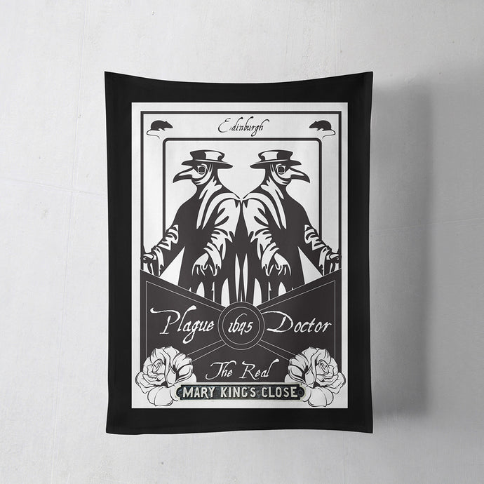 Plague Doctor Tea Towel