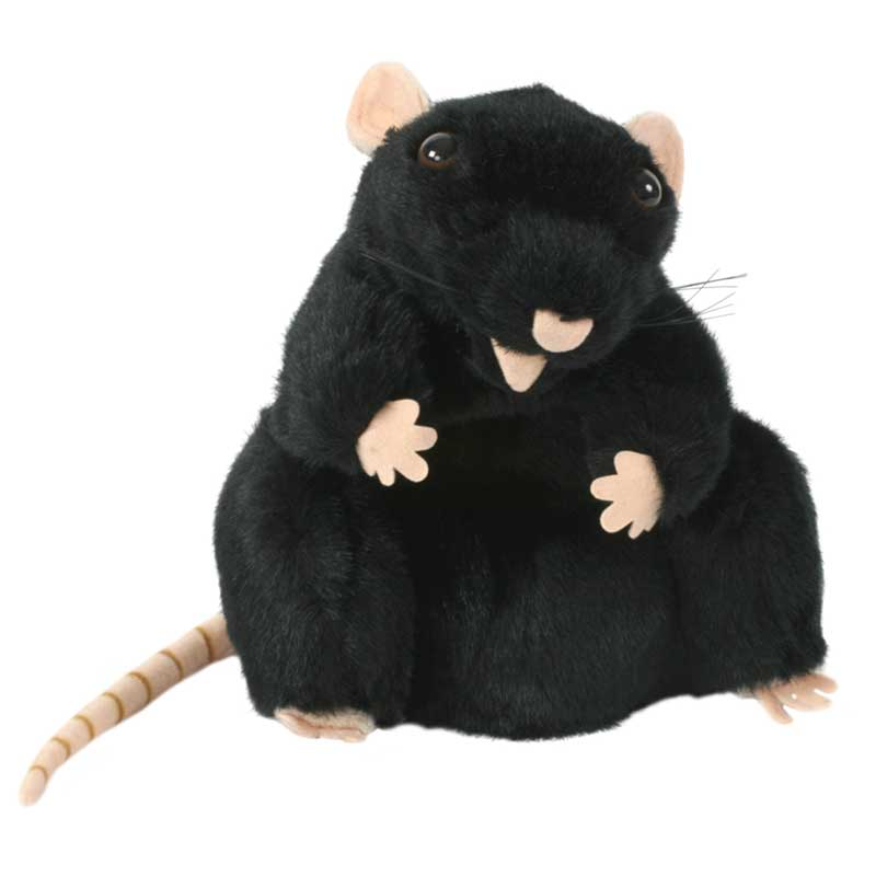 Black Rat Hand Puppet