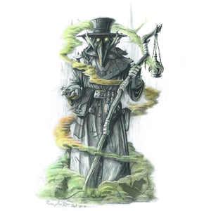A3 Plague Doctor Print by Ross MacRae