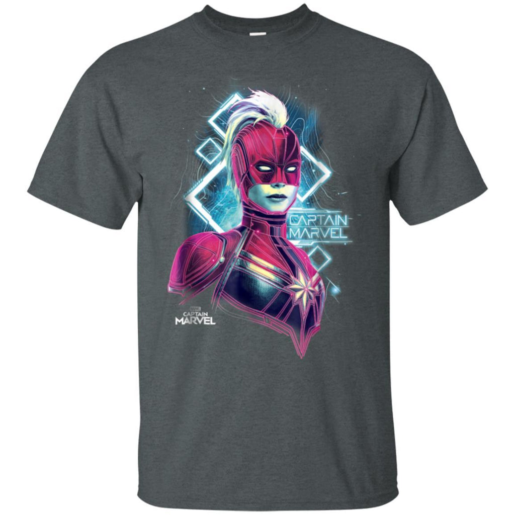 Marvel Captain Marvel Space Glow Neon Graphic T-Shirt