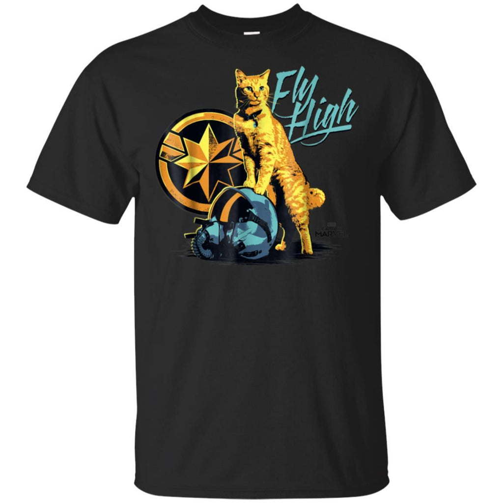 Captain Marvel Symbol Goose Fly High Graphic T-Shirt