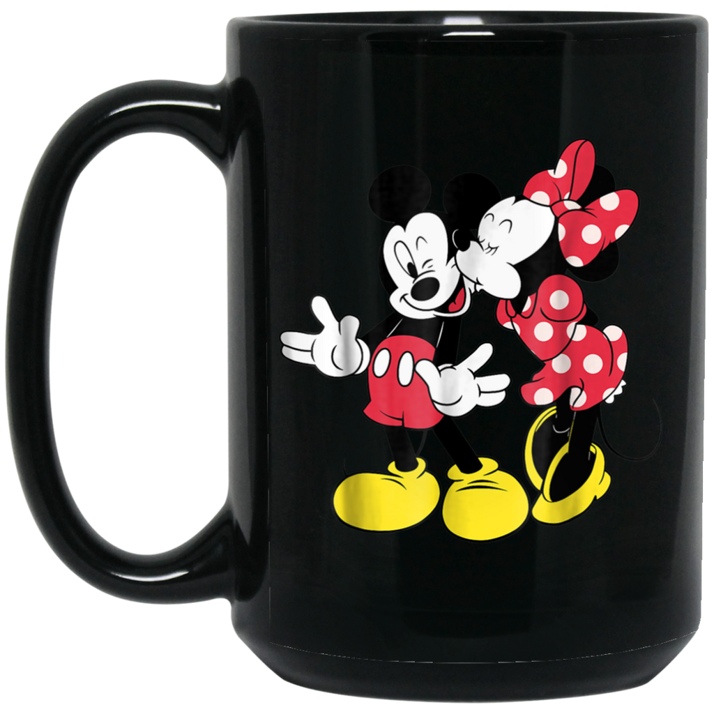 Disney Mickey and Minnie Classic Love Black Mug