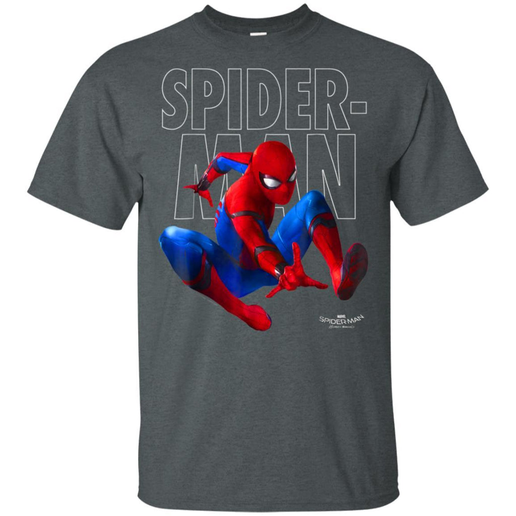 Marvel Spider-Man Homecoming Outlined Epic Jump Pose T-Shirt
