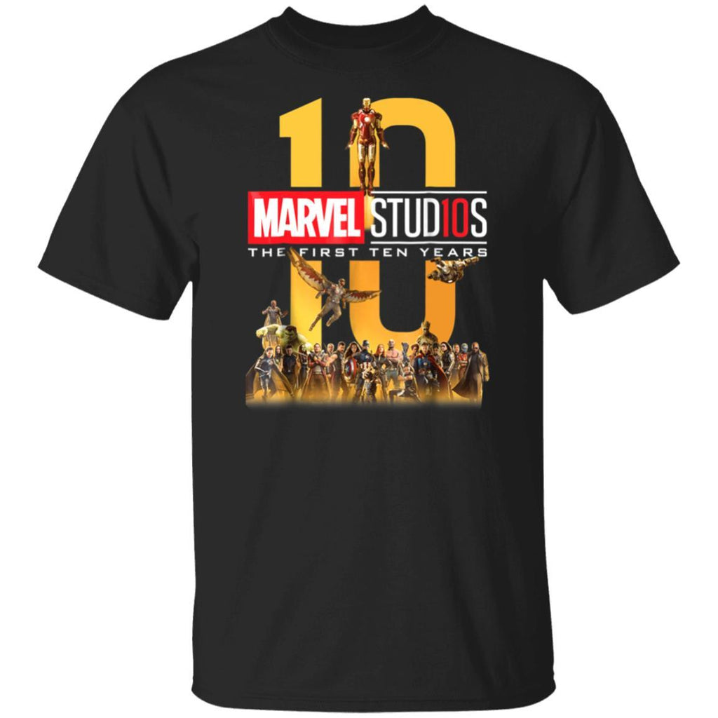 Marvel Studios First Ten Years Full Cast Graphic T-Shirt