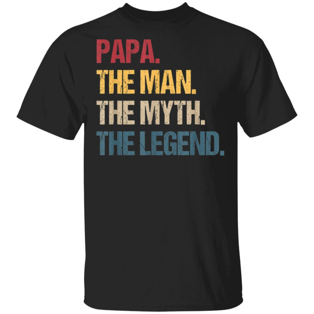 Papa Man Myth Legend Gift For Mens & Dad Funny Father Gift T-Shirt