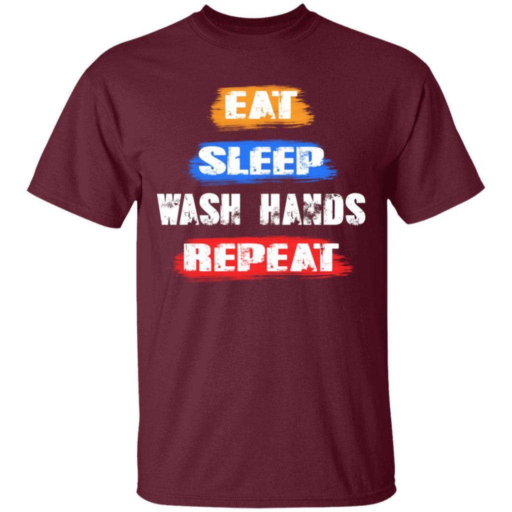 eat sleep wash hand repeat anti flu Tshirt