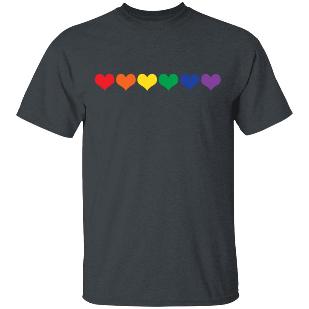 LGBT Colored Hearts T-Shirt
