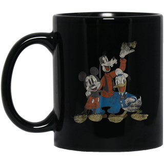 Disney Classic Friends Mickey and Gang Graphic Black Mug