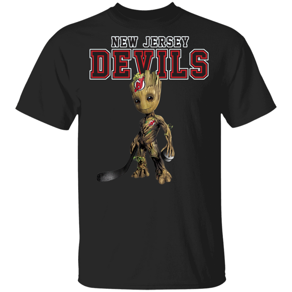 NHL - New Jersey Devils Hockey Guardians of the Galaxy Groot T-Shirt
