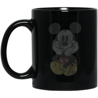 Kids Disney Classic Mickey Mouse Chillin Black Mug