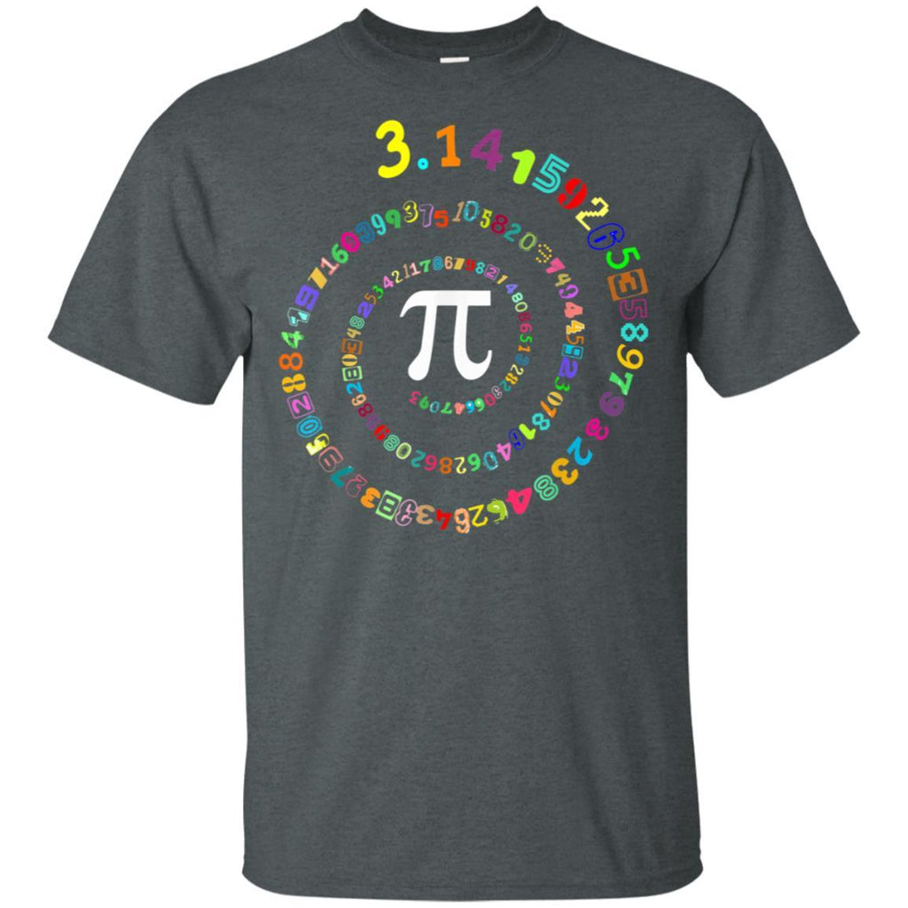 Pi Spiral Novelty Shirt for Pi Day Tshirt Kids Teacher