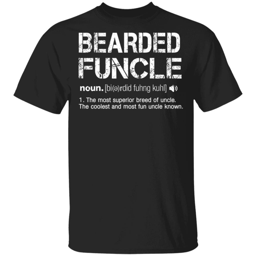 Funny Bearded Fun funcle Definition Grunge T-Shirt