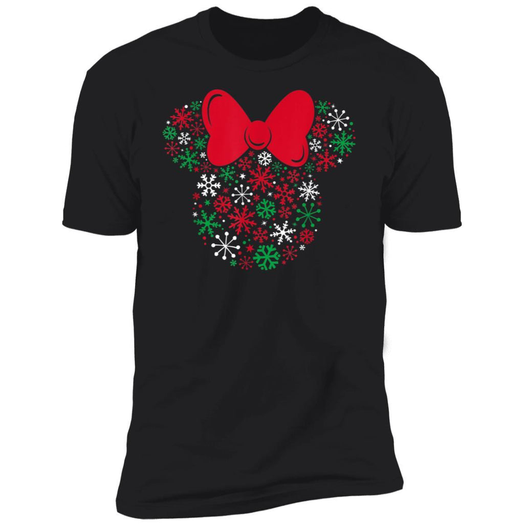 Disney Minnie Mouse Icon Holiday Snowflakes T-Shirt