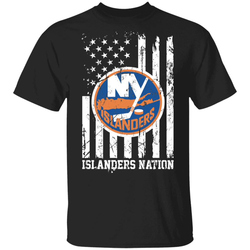 NHL New York Islanders Logo American Flag T-Shirt