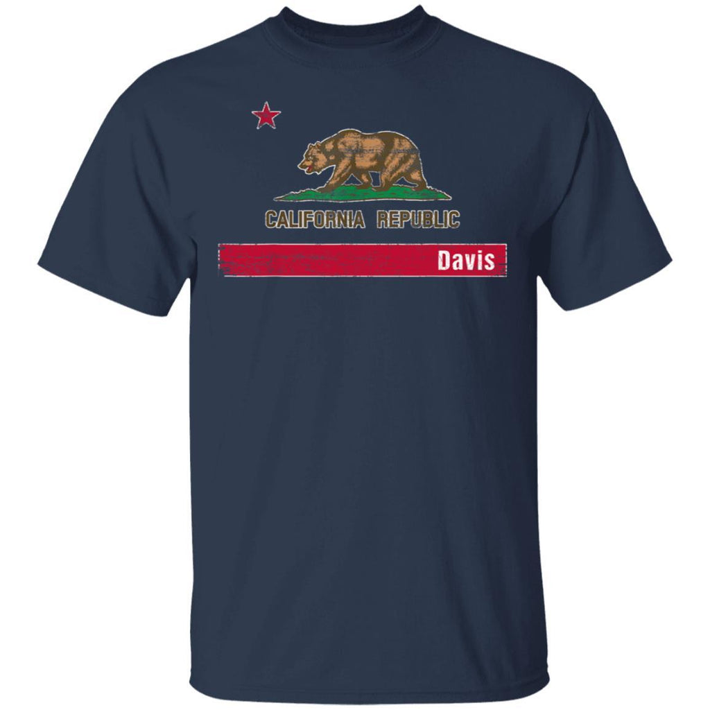 Davis California distressed Flag vintage T-Shirt