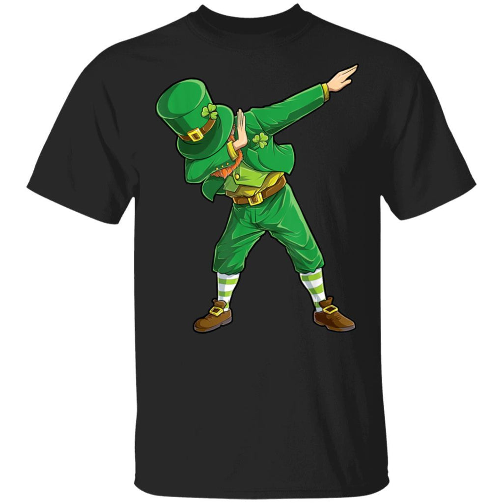 Dabbing Leprechaun St Patricks Day Women Men Funny T-Shirt