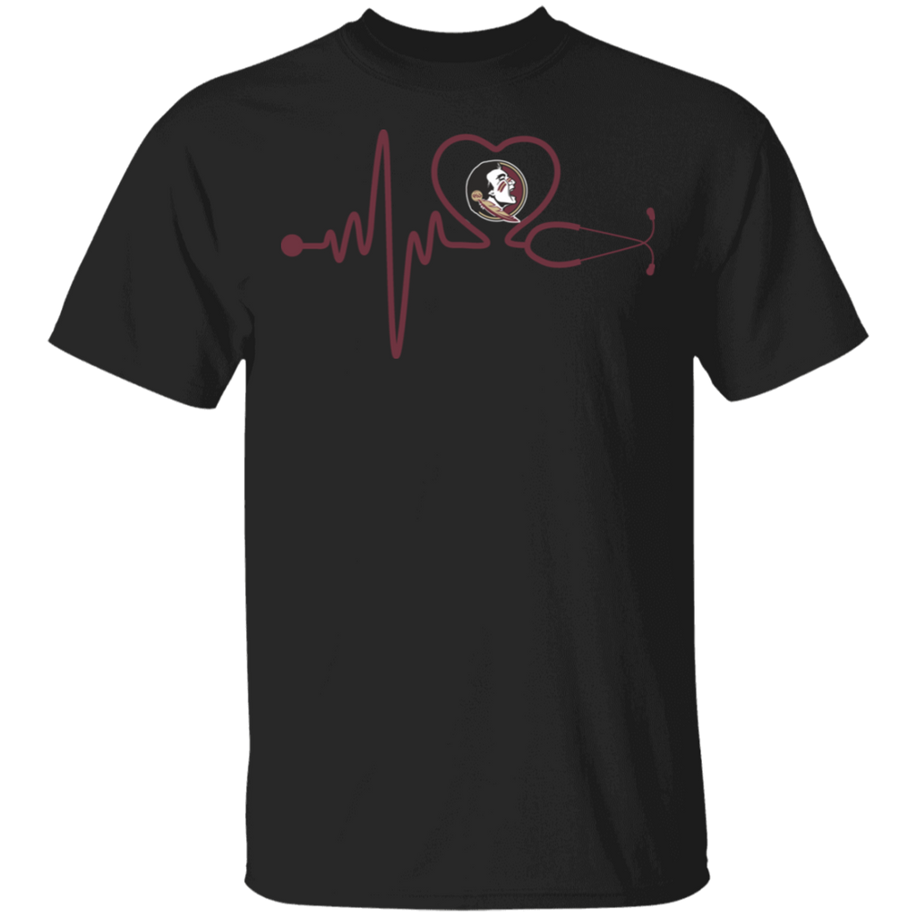 NCAA - Florida State Seminoles Nurse - Stethoscope Heartbeat T-Shirt