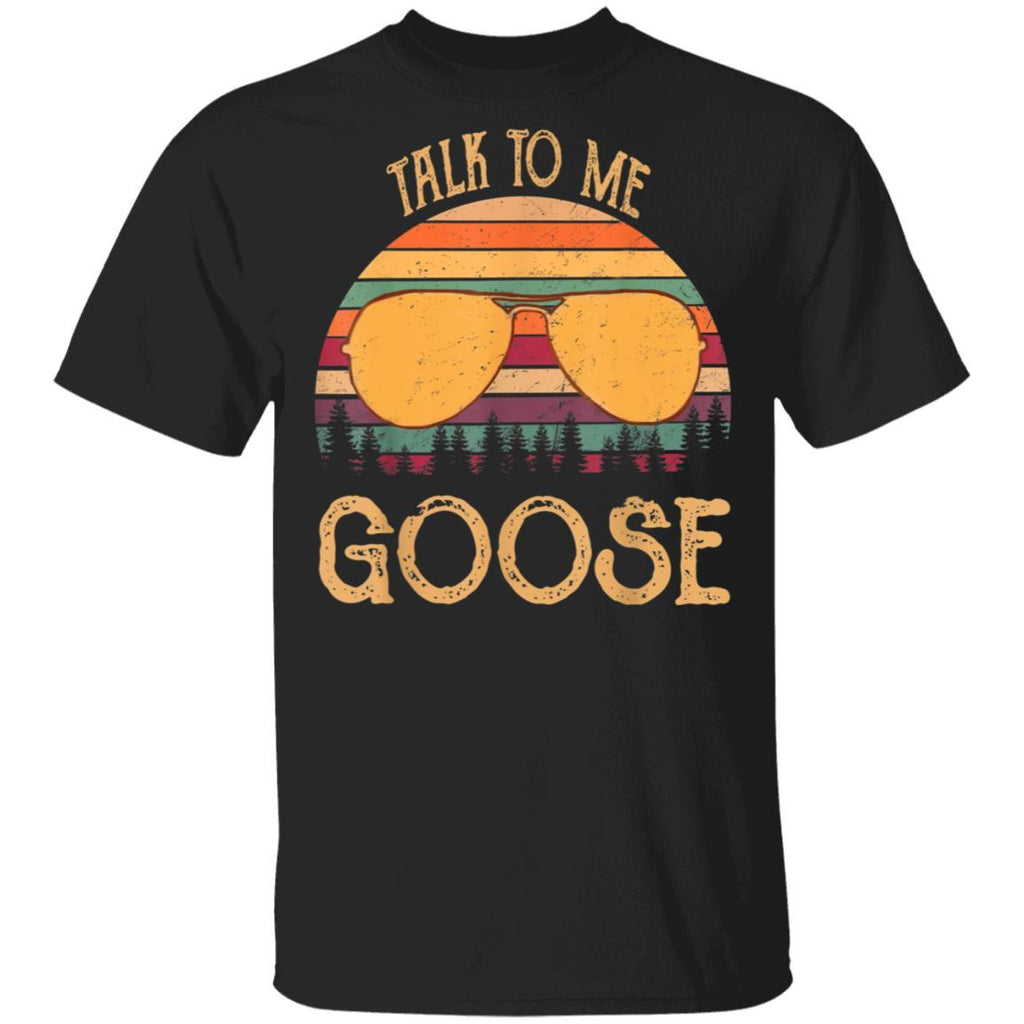 Retro Vintage Sunset Sunglass Talk To Me Goose funny T-Shirt