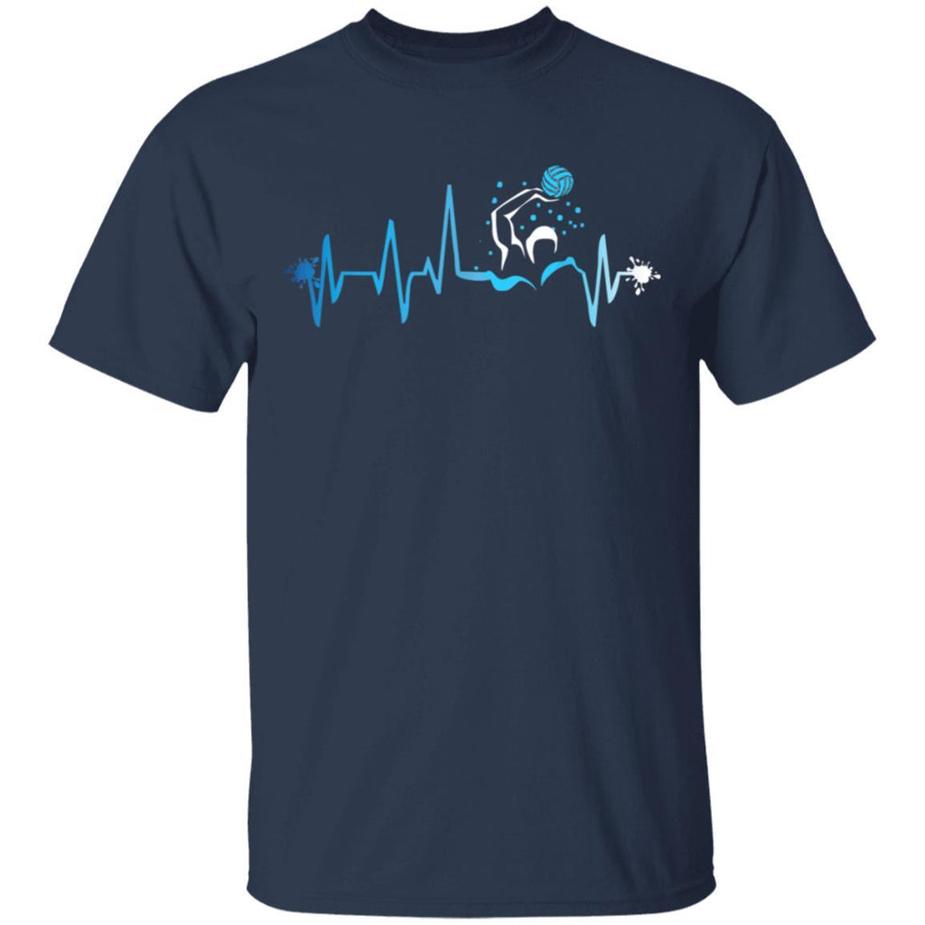 Water Polo Heart Beat Graphic Player Fan Team Gift T-Shirt