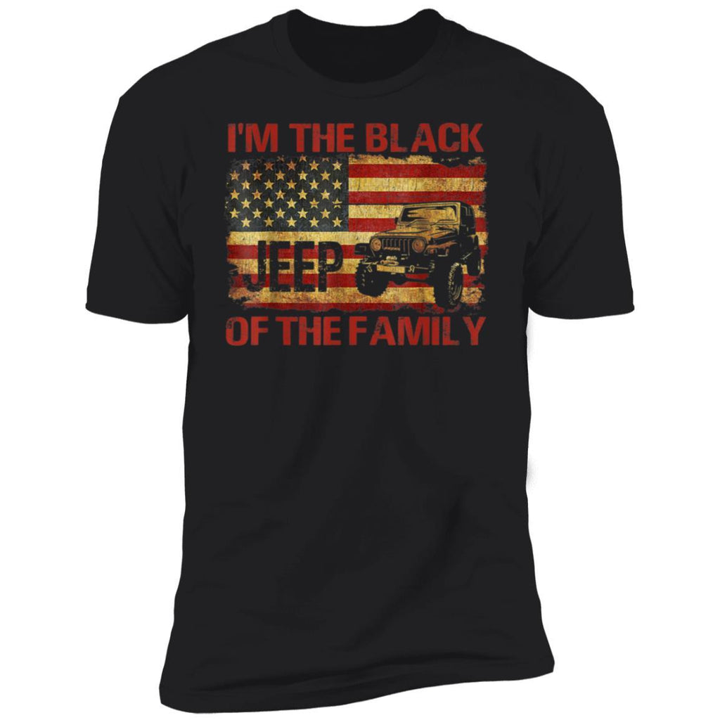 I'm The Black Jeeps Of The Family American Flag Jeeps Men T-Shirt