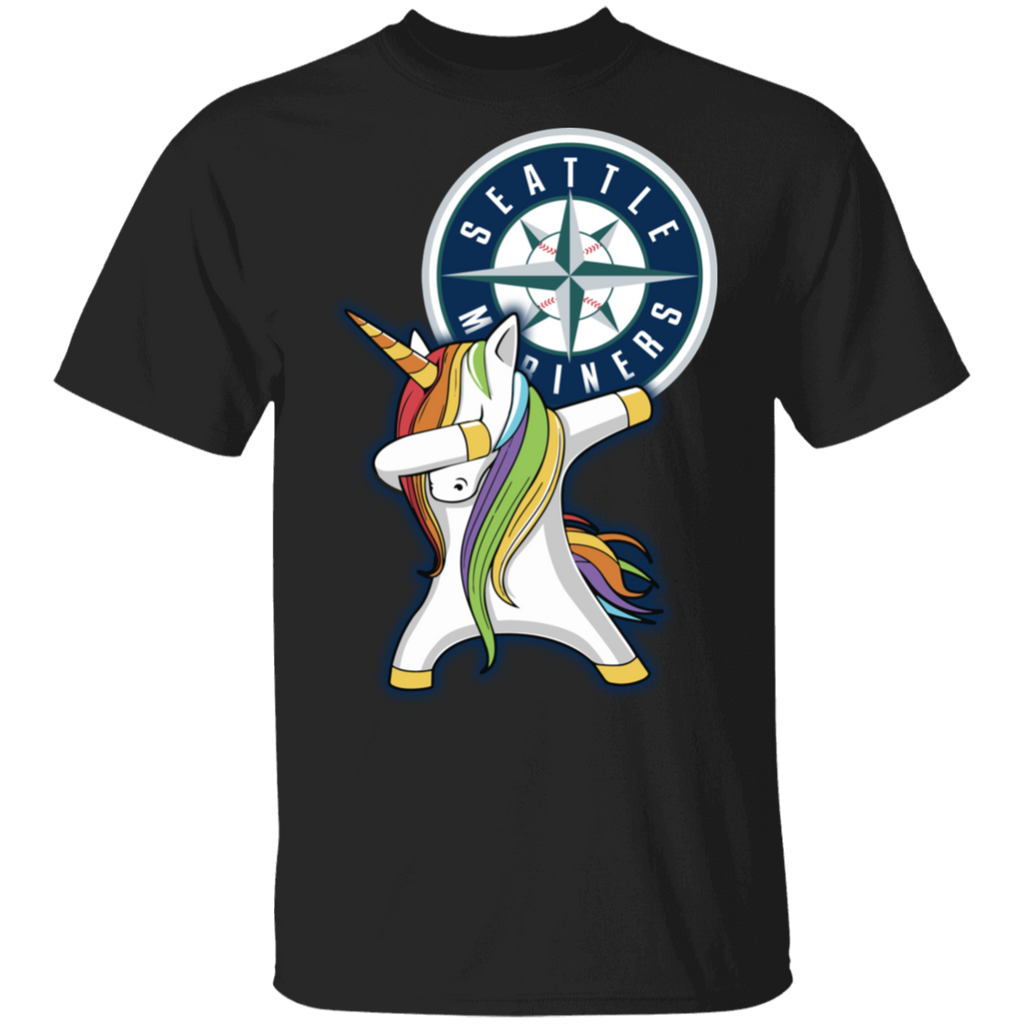 MLB Seattle Mariners Baseball Dabbing Unicorn T-shirt