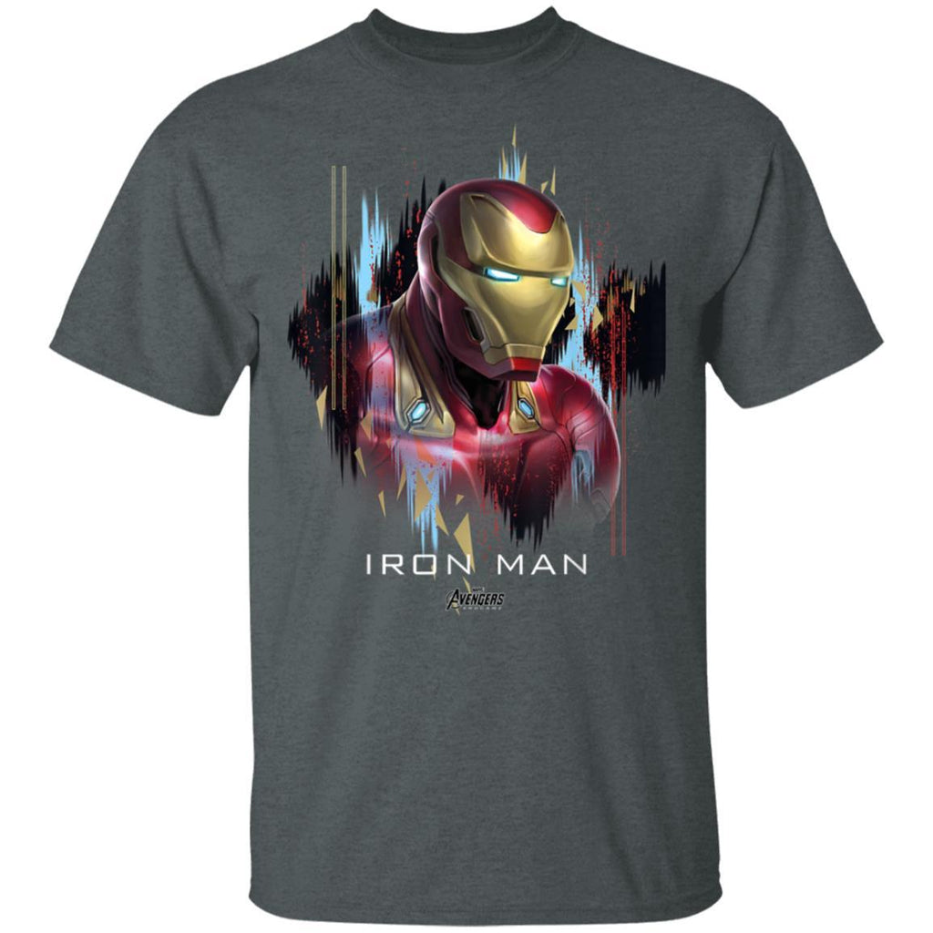 Marvel Avengers Endgame Iron Man Splatter Graphic T-Shirt